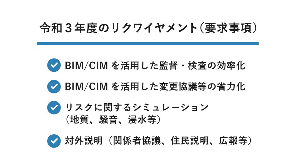 BIM/CIMの目的とリクワイヤメント(要求事項)