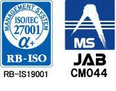 RB-ISO登録マークとJAB認定シンボルマーク